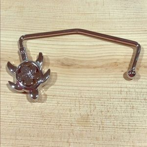 Purse Holder Turtle Summer Flower Silver